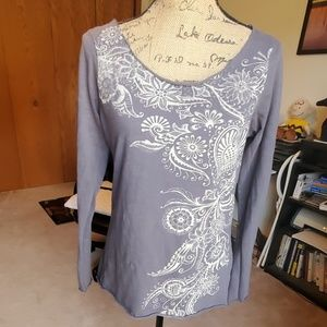 Lucky Brand size Large grey shirt